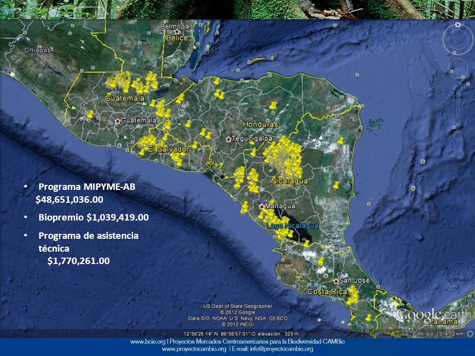Programa MIPYME-AB $48,651,036.00. Biopremio $1,039,419.00.