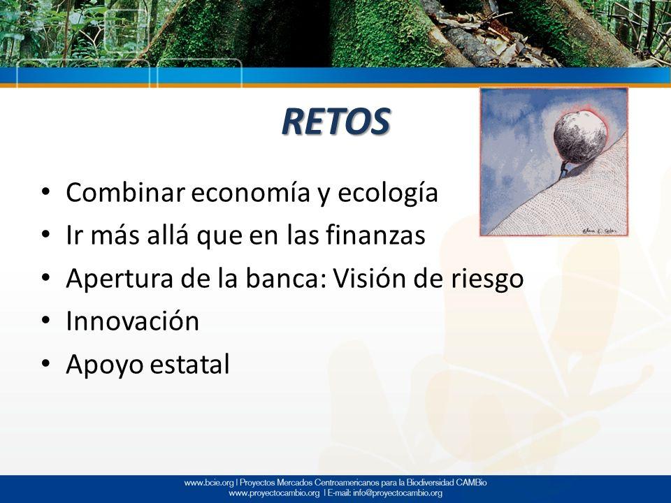 RETOS Combinar economía y ecología Ir más allá que en las finanzas