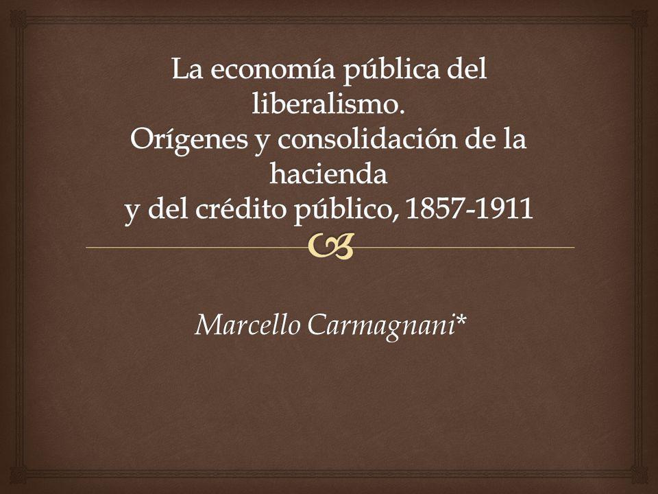 La economía pública del liberalismo