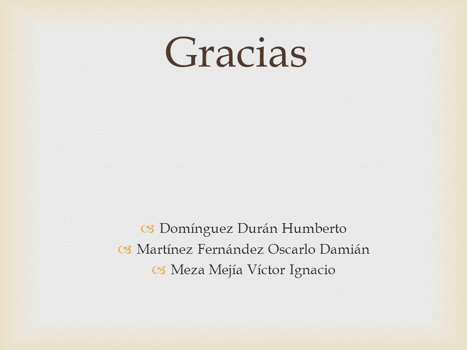 Gracias Domínguez Durán Humberto Martínez Fernández Oscarlo Damián