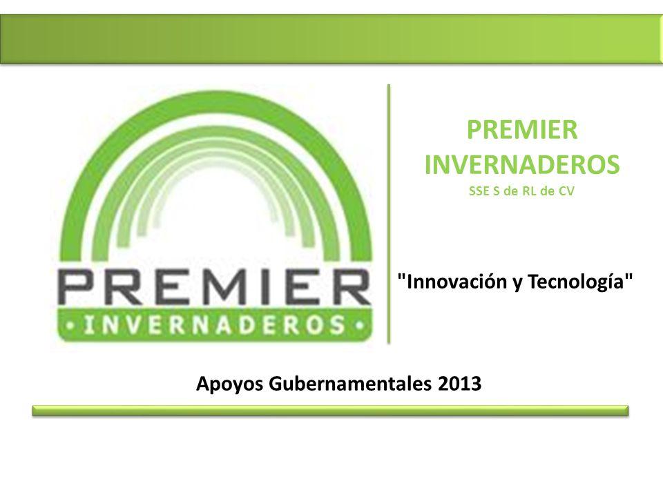 PREMIER INVERNADEROS SSE S de RL de CV