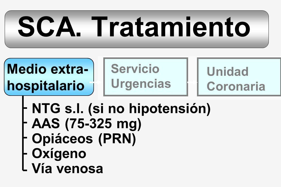 SCA. Tratamiento Medio extra- hospitalario