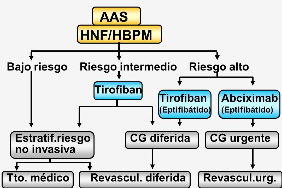 AAS HNF/HBPM Bajo riesgo Riesgo intermedio Riesgo alto Tirofiban
