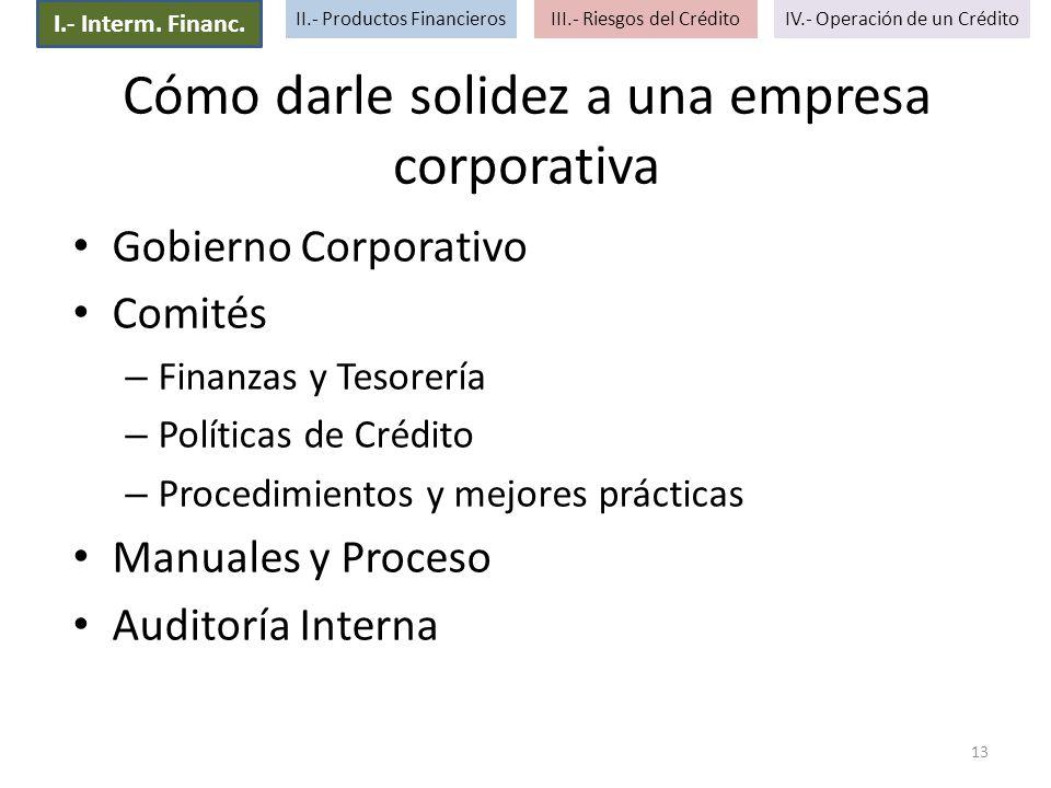 Cómo darle solidez a una empresa corporativa