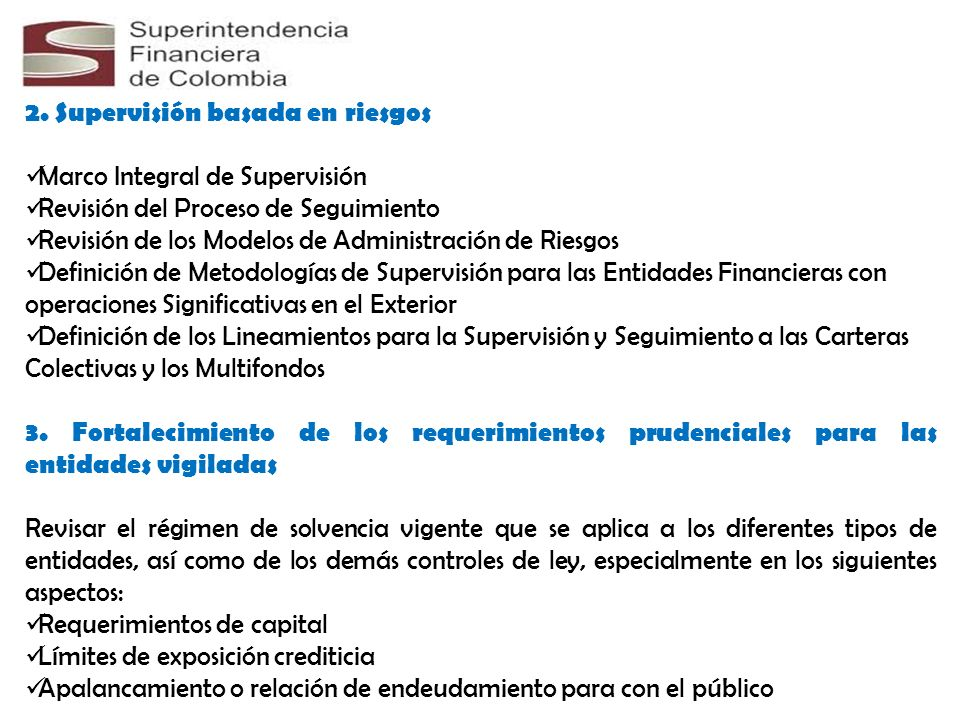 2. Supervisión basada en riesgos