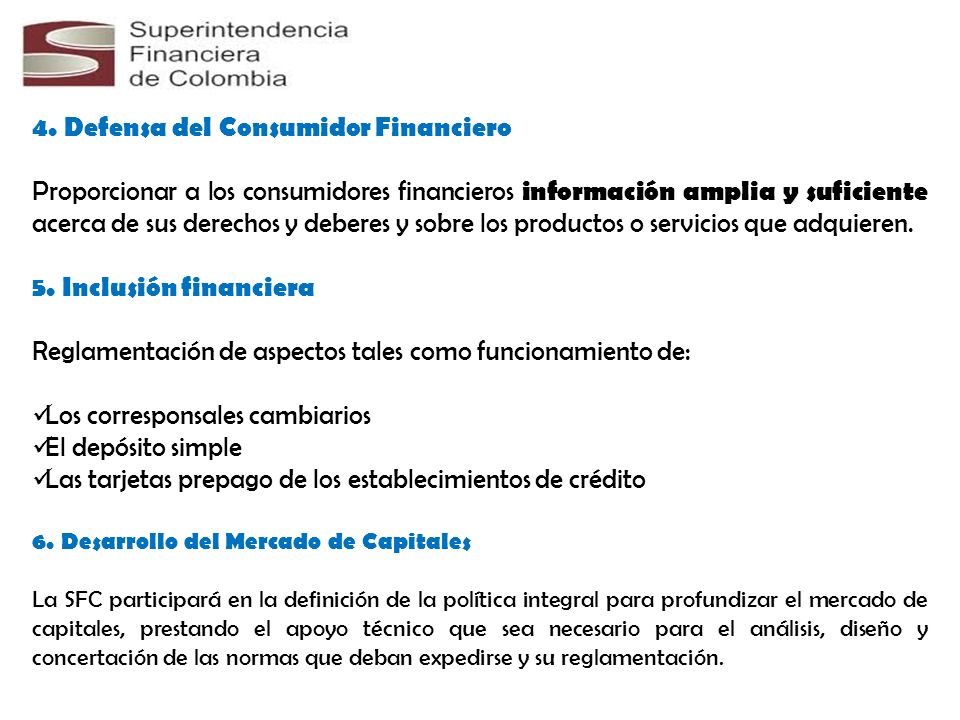 4. Defensa del Consumidor Financiero