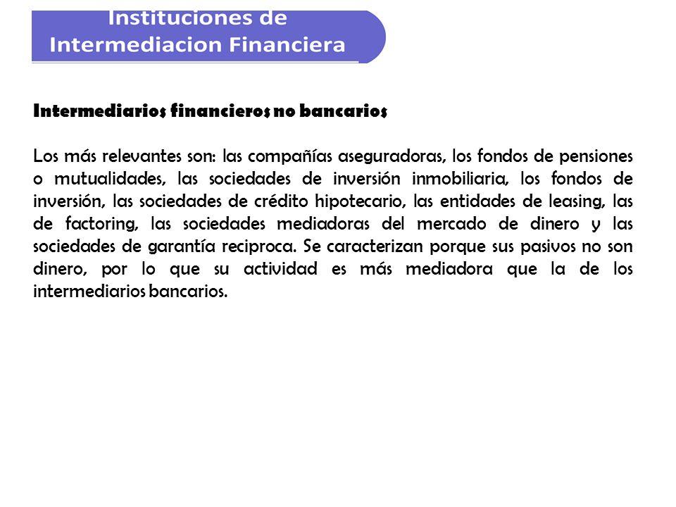 Intermediarios financieros no bancarios