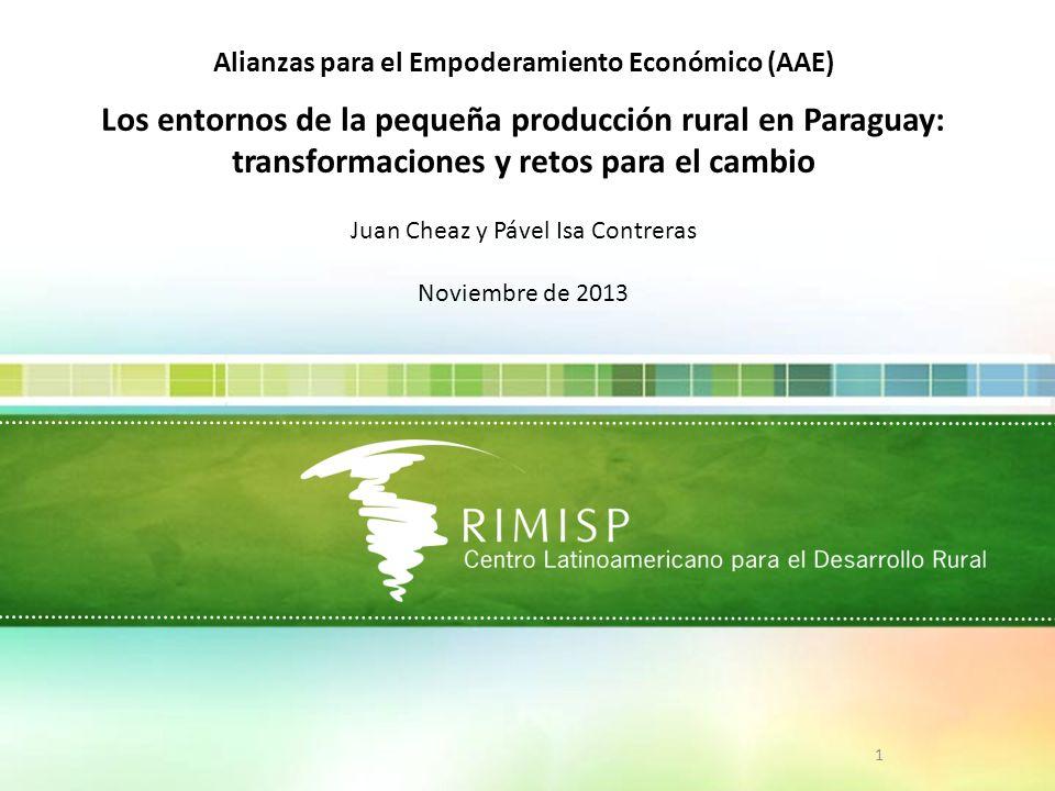 Los entornos de la pequeña producción rural en Paraguay: