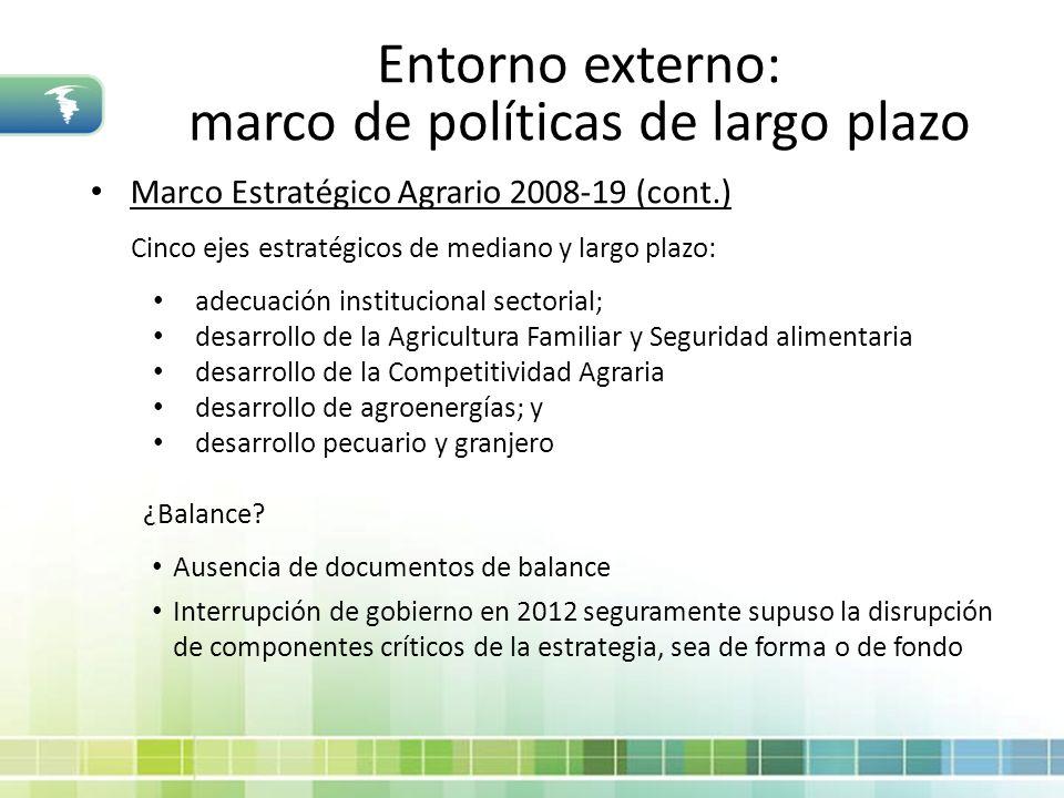 marco de políticas de largo plazo