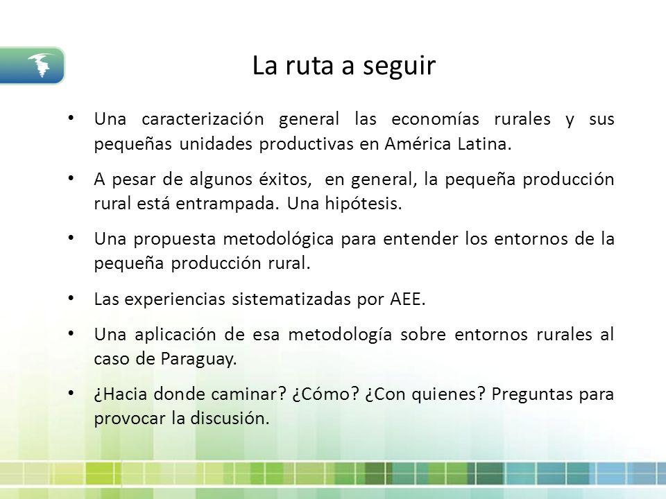 La ruta a seguir Una caracterización general las economías rurales y sus pequeñas unidades productivas en América Latina.