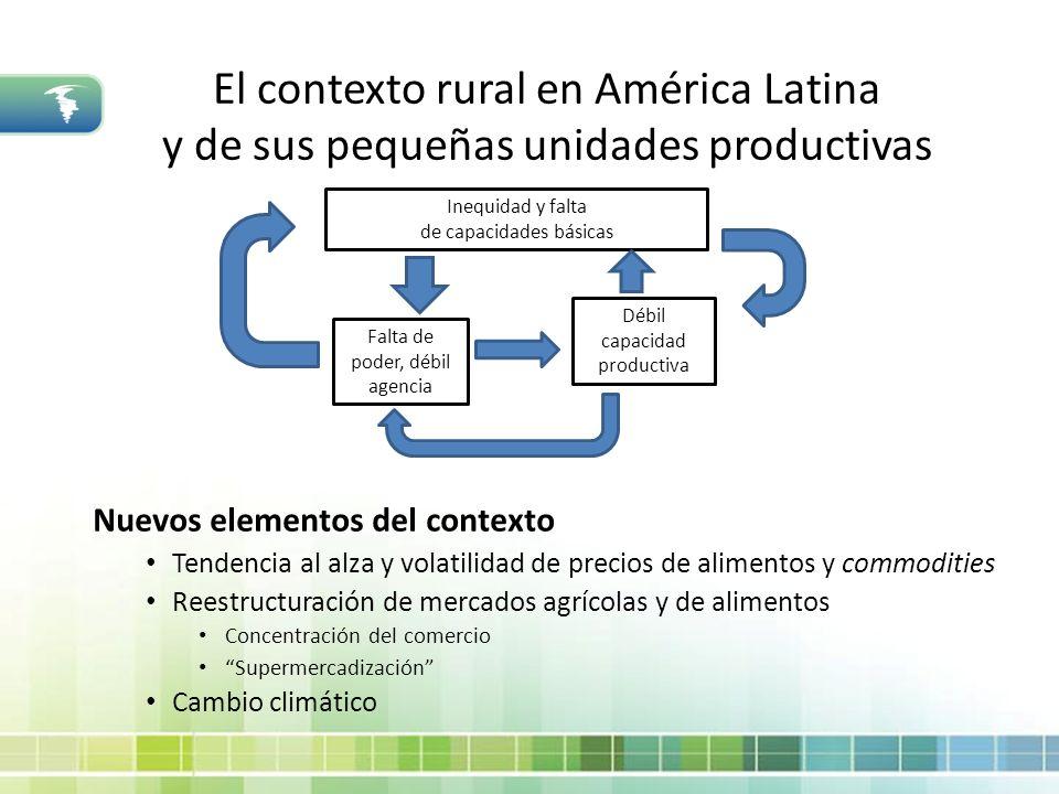 El contexto rural en América Latina y de sus pequeñas unidades productivas