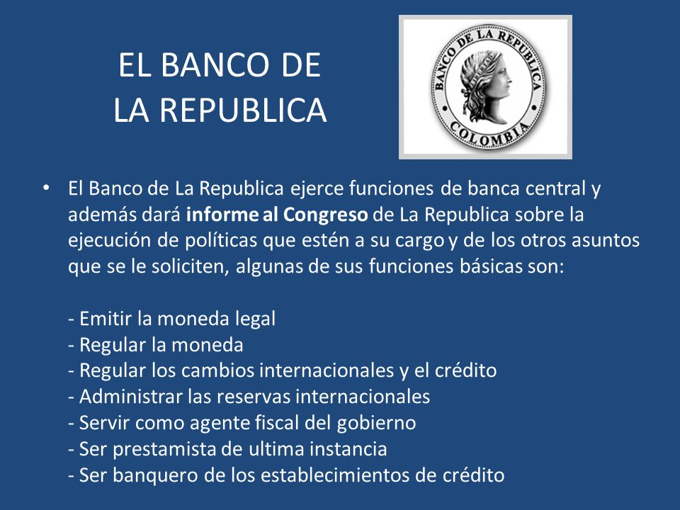EL BANCO DE LA REPUBLICA