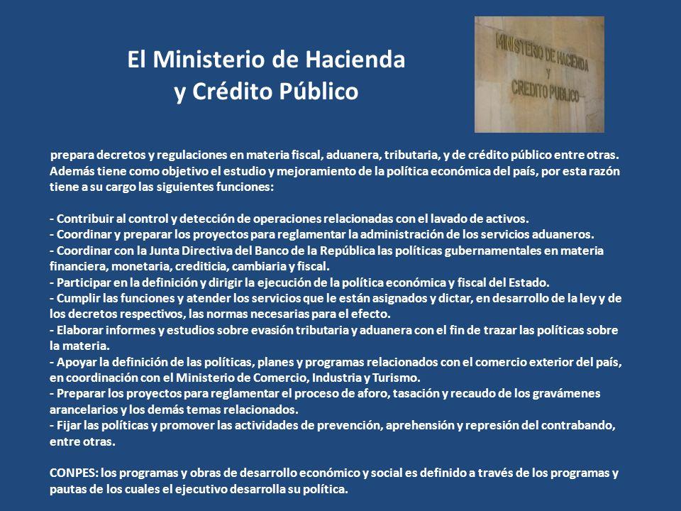 El Ministerio de Hacienda y Crédito Público