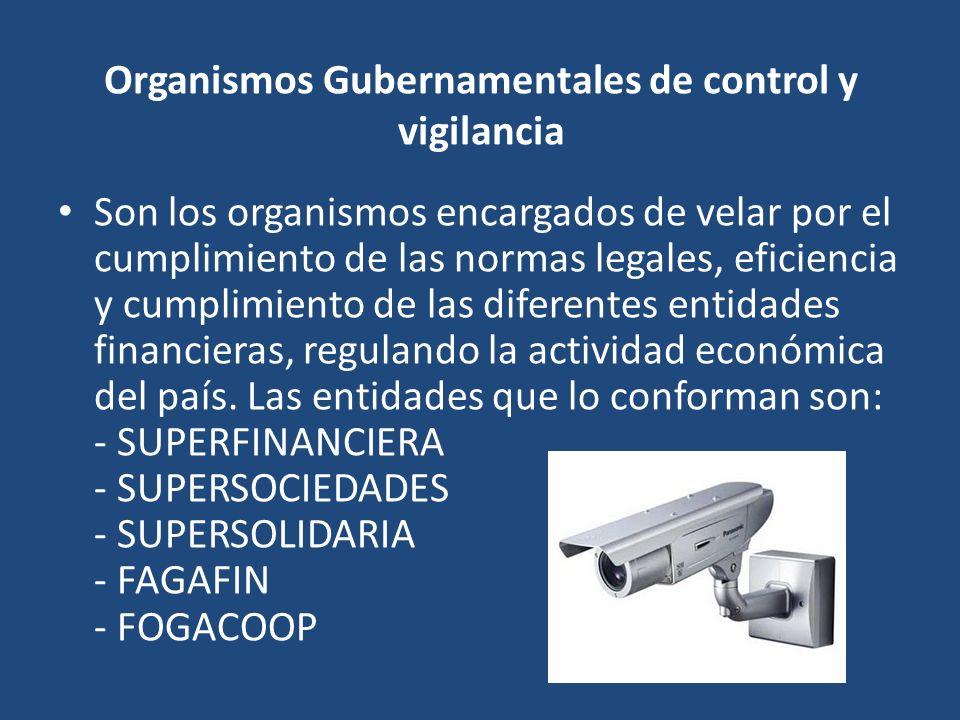 Organismos Gubernamentales de control y vigilancia