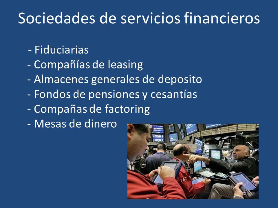 Sociedades de servicios financieros