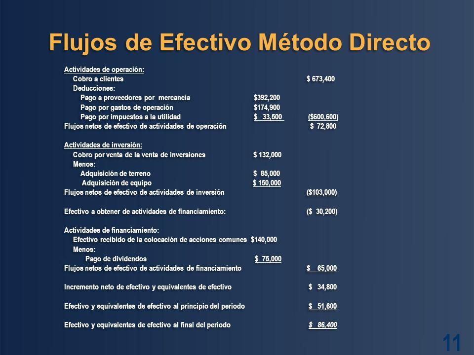 Flujos de Efectivo Método Directo