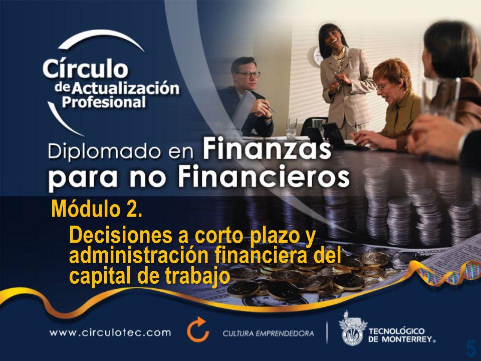 Módulo 2. Decisiones a corto plazo y administración financiera del capital de trabajo