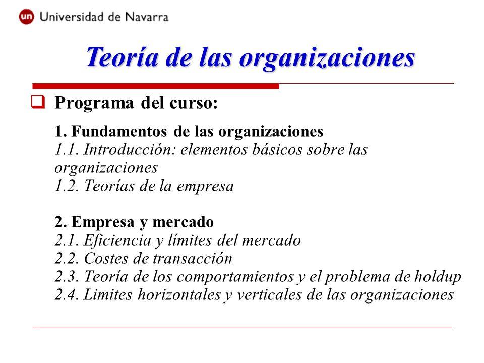 Teoría de las organizaciones