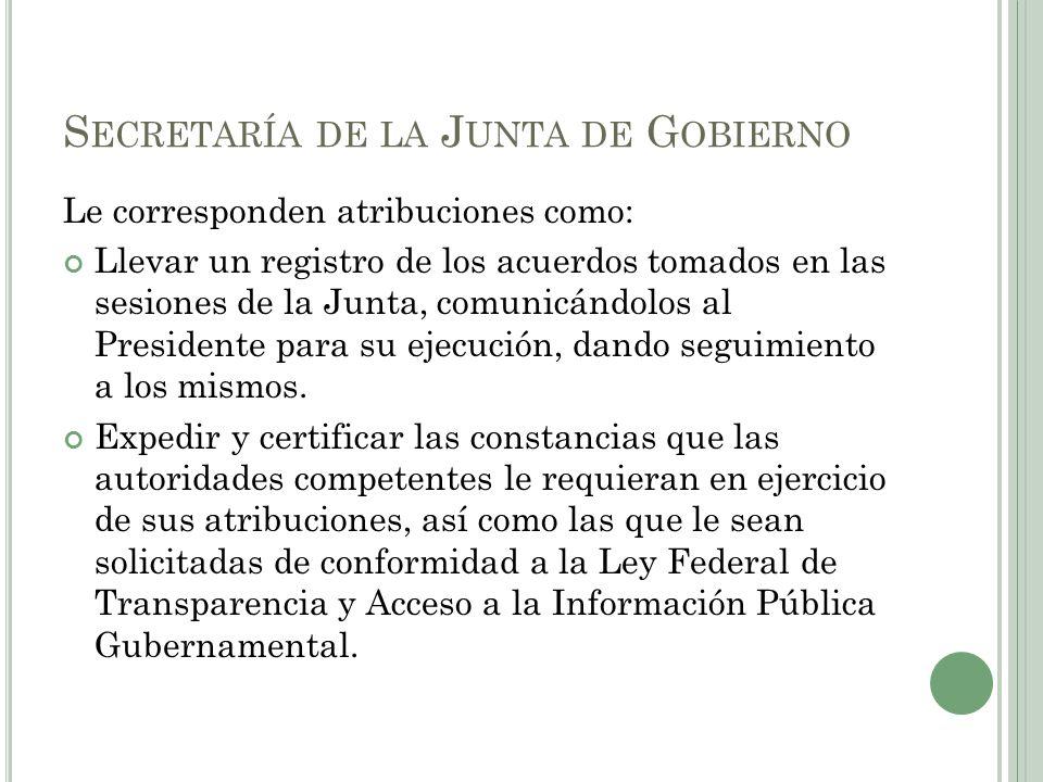 Secretaría de la Junta de Gobierno