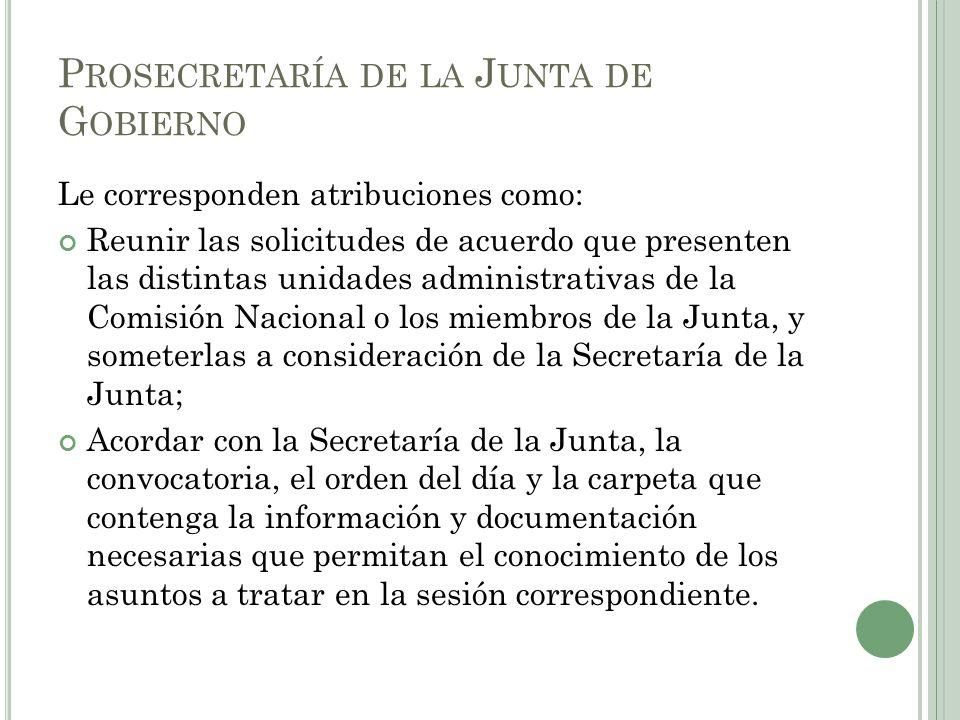 Prosecretaría de la Junta de Gobierno