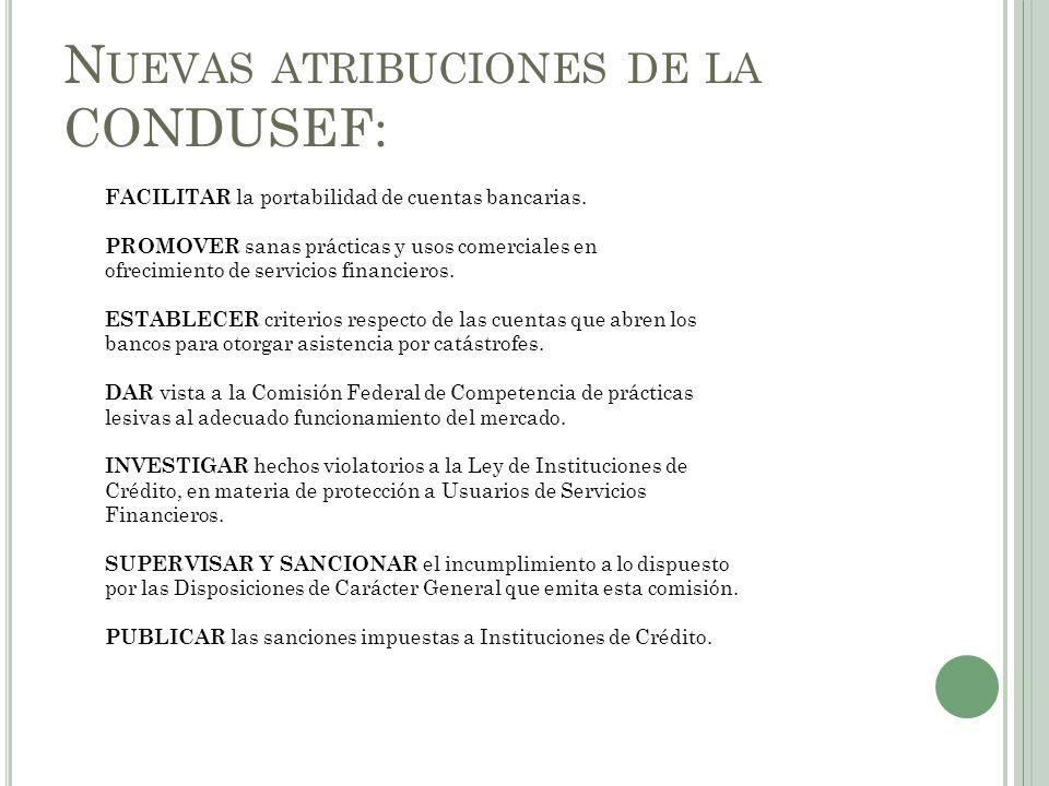 Nuevas atribuciones de la CONDUSEF: