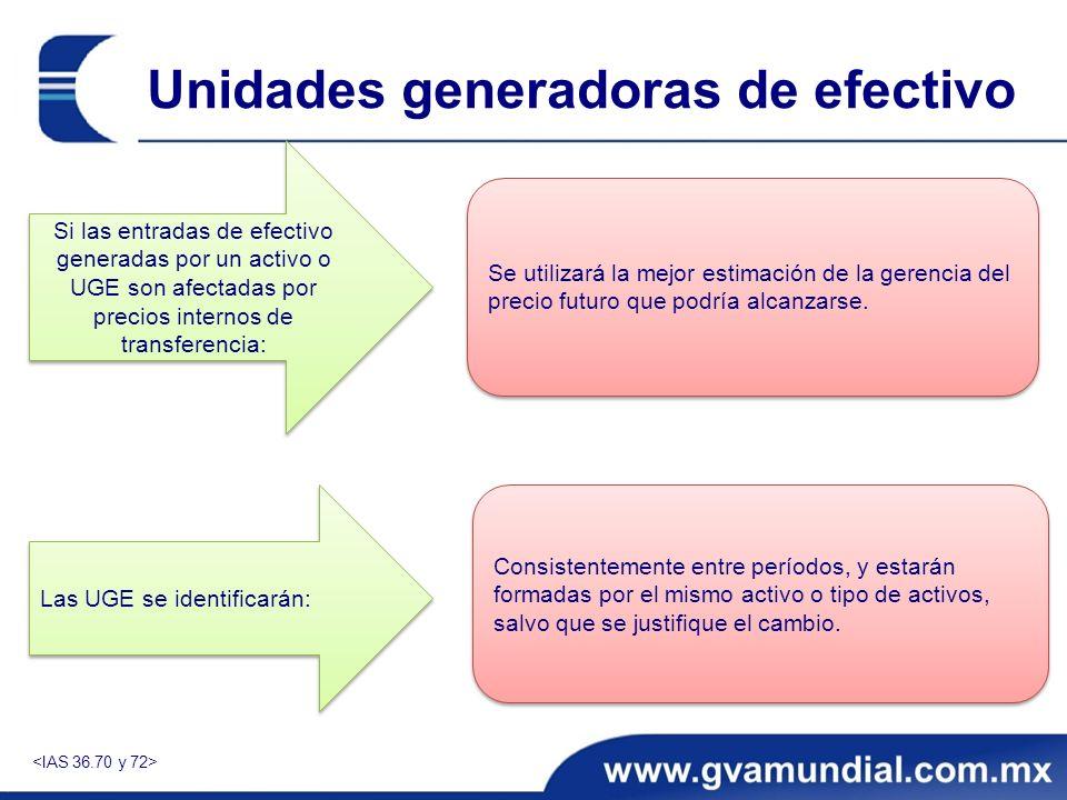 Unidades generadoras de efectivo