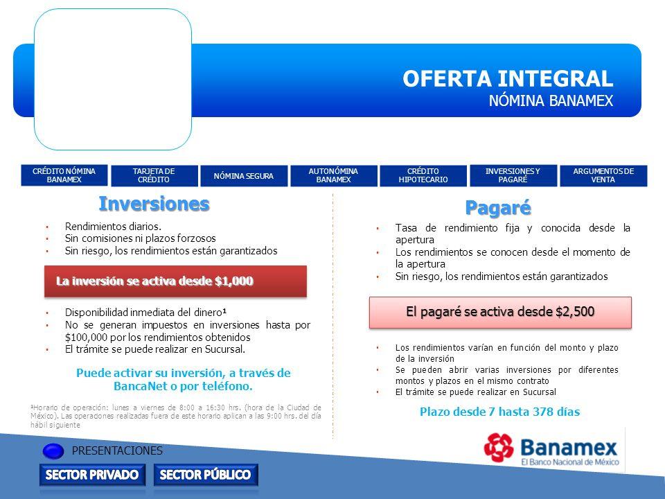 Puede activar su inversión, a través de BancaNet o por teléfono.