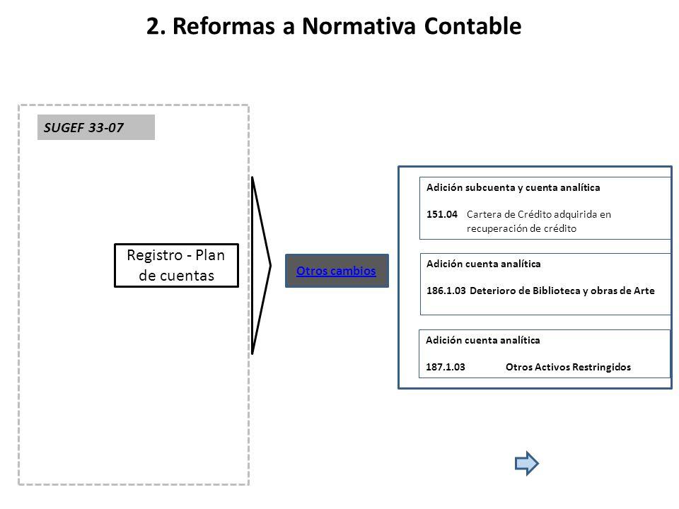 2. Reformas a Normativa Contable