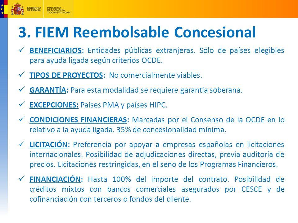 3. FIEM Reembolsable Concesional