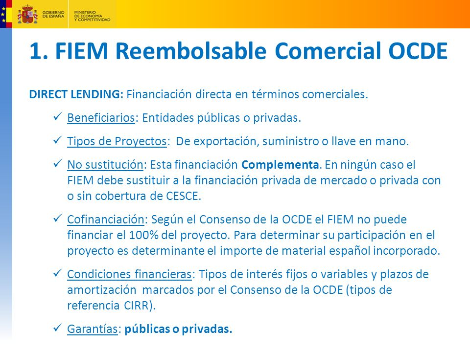 1. FIEM Reembolsable Comercial OCDE
