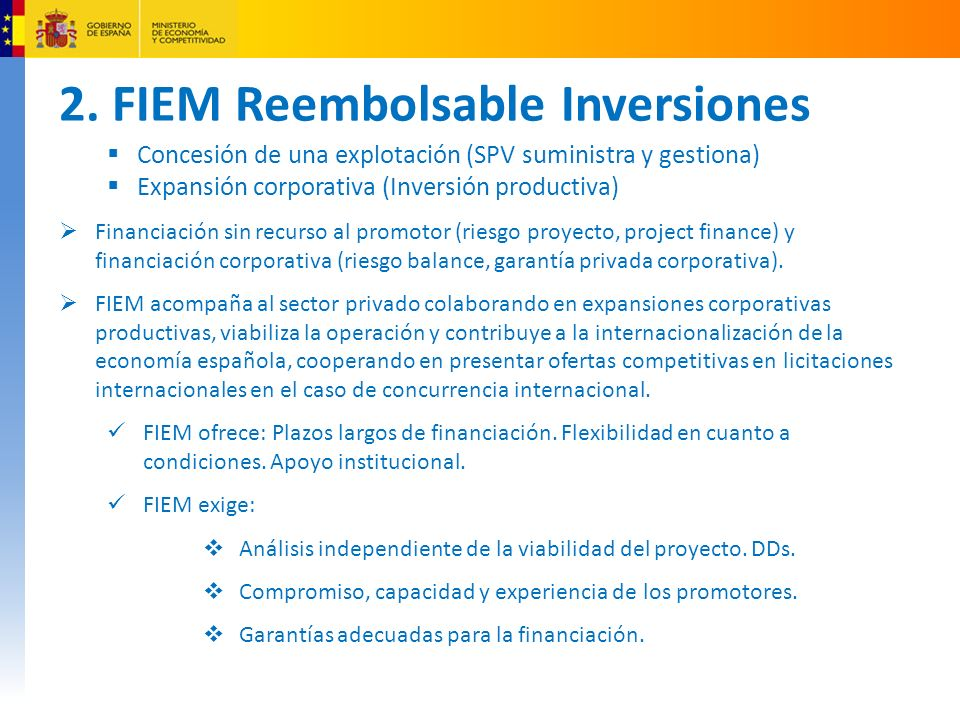 2. FIEM Reembolsable Inversiones