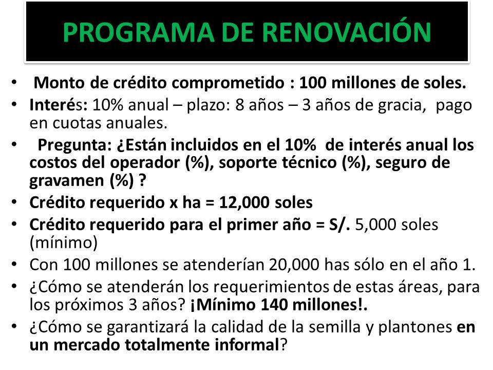 PROGRAMA DE RENOVACIÓN