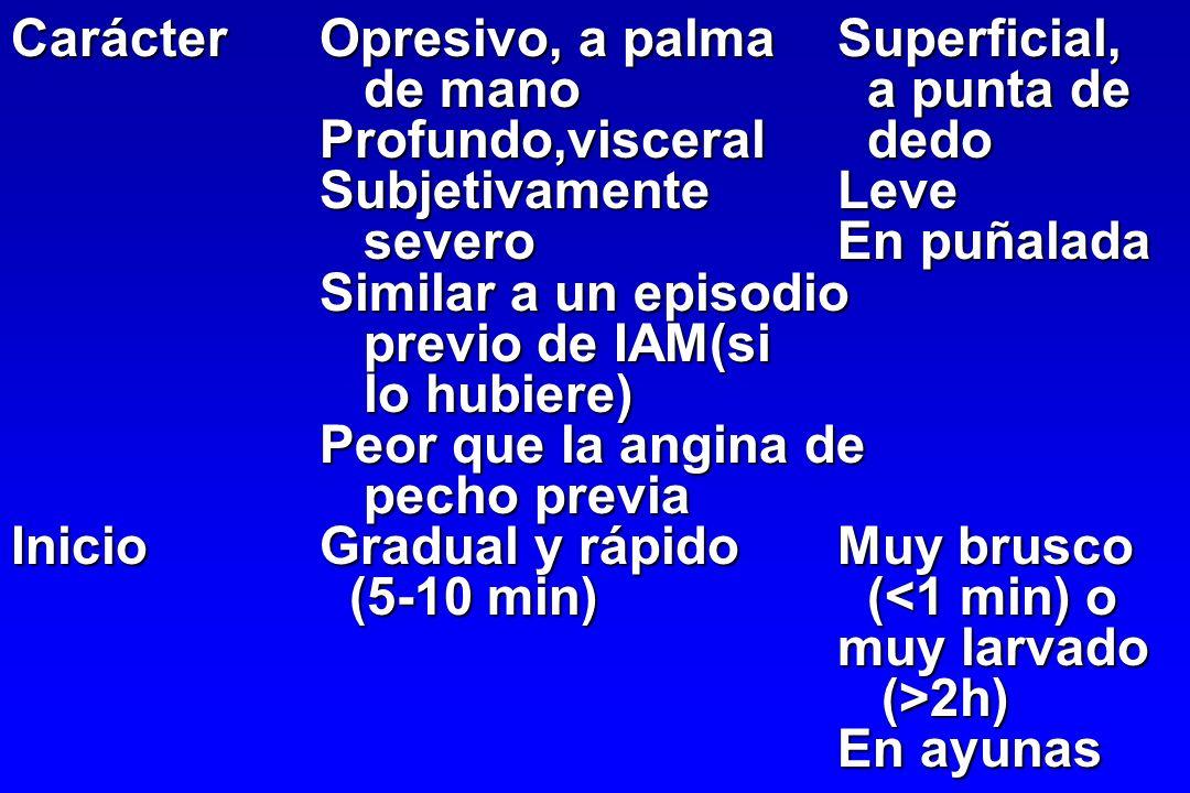 Carácter Opresivo, a palma Superficial,