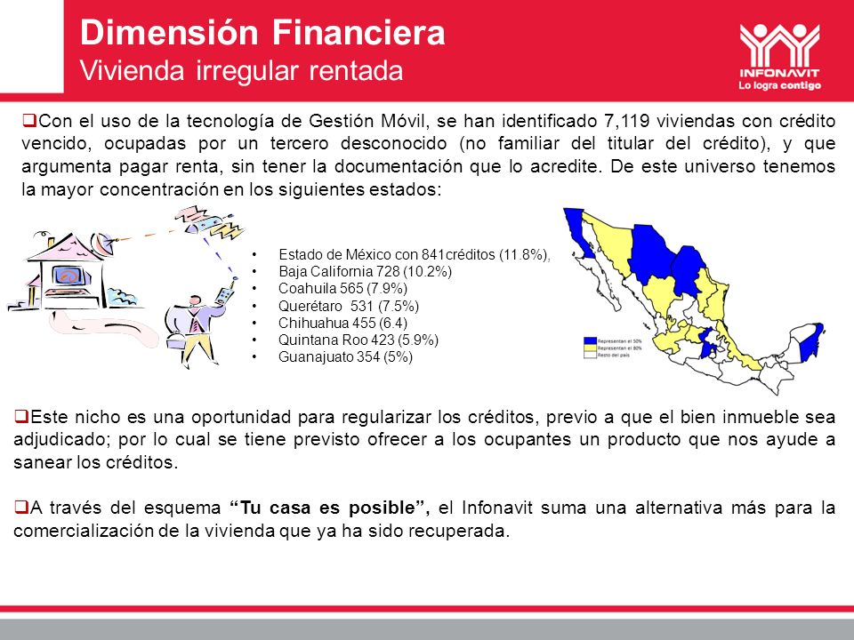 Dimensión Financiera Vivienda irregular rentada