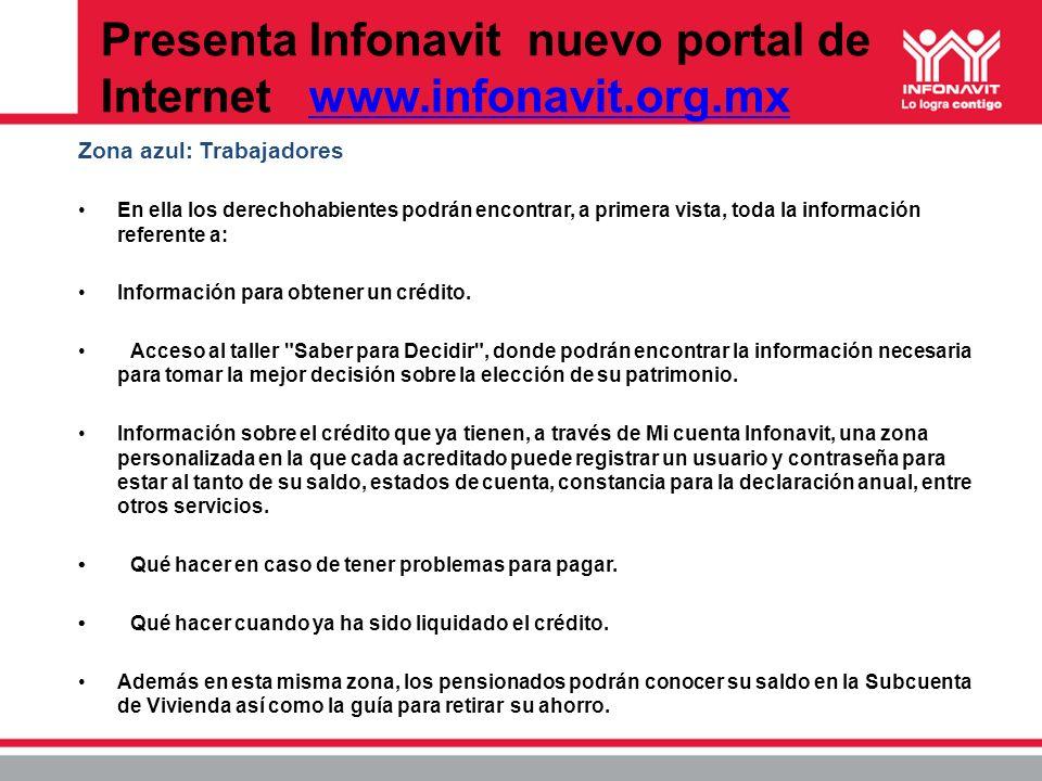 Presenta Infonavit nuevo portal de Internet www.infonavit.org.mx