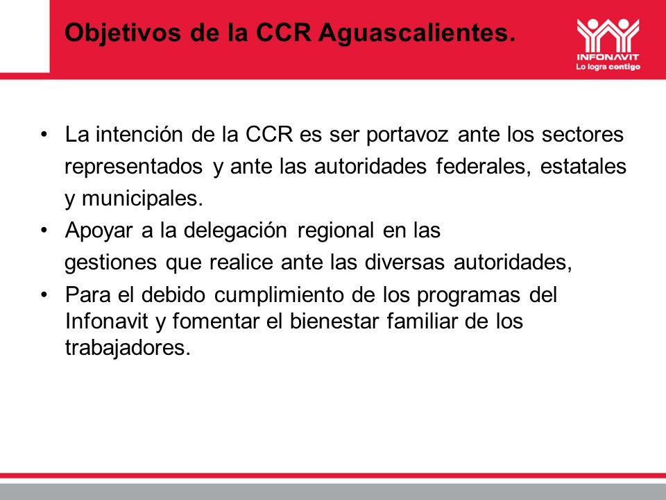 Objetivos de la CCR Aguascalientes.