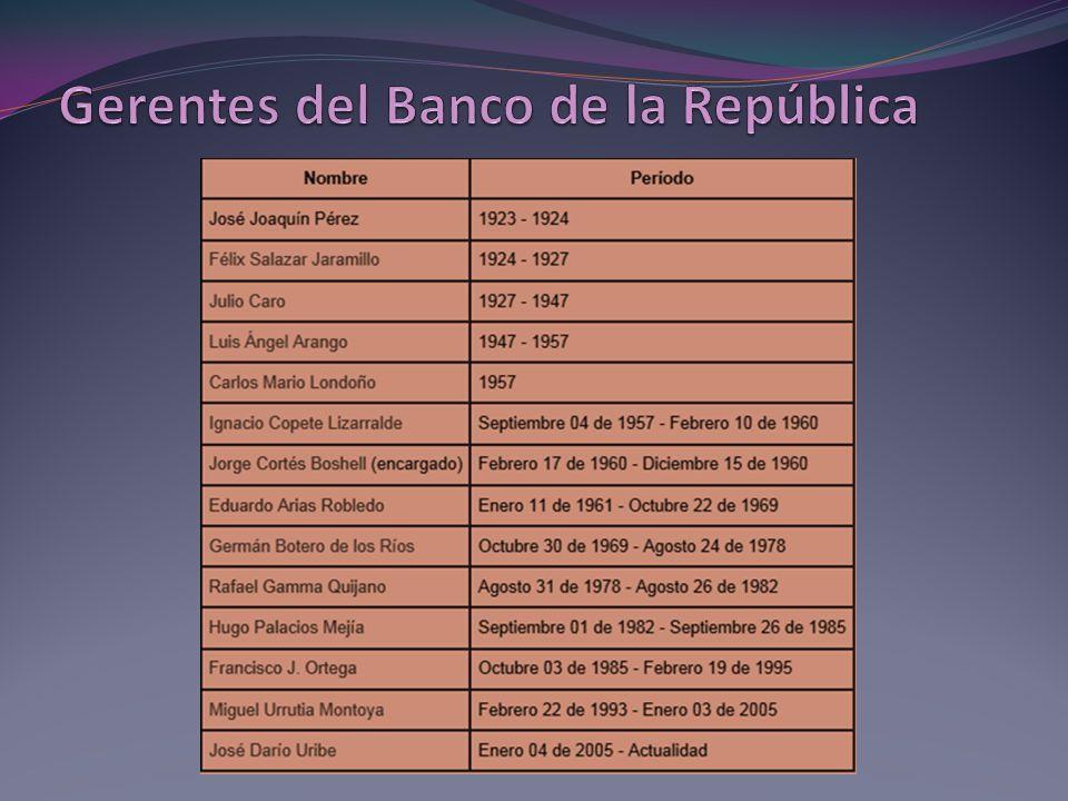 Gerentes del Banco de la República