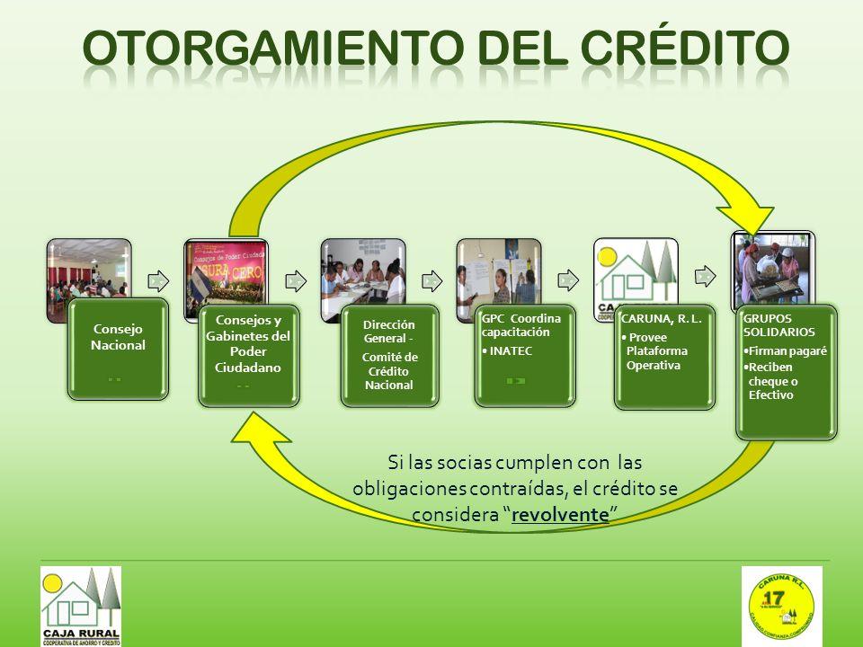 Otorgamiento del crédito