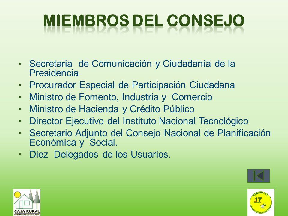 Miembros del Consejo Secretaria de Comunicación y Ciudadanía de la Presidencia. Procurador Especial de Participación Ciudadana.
