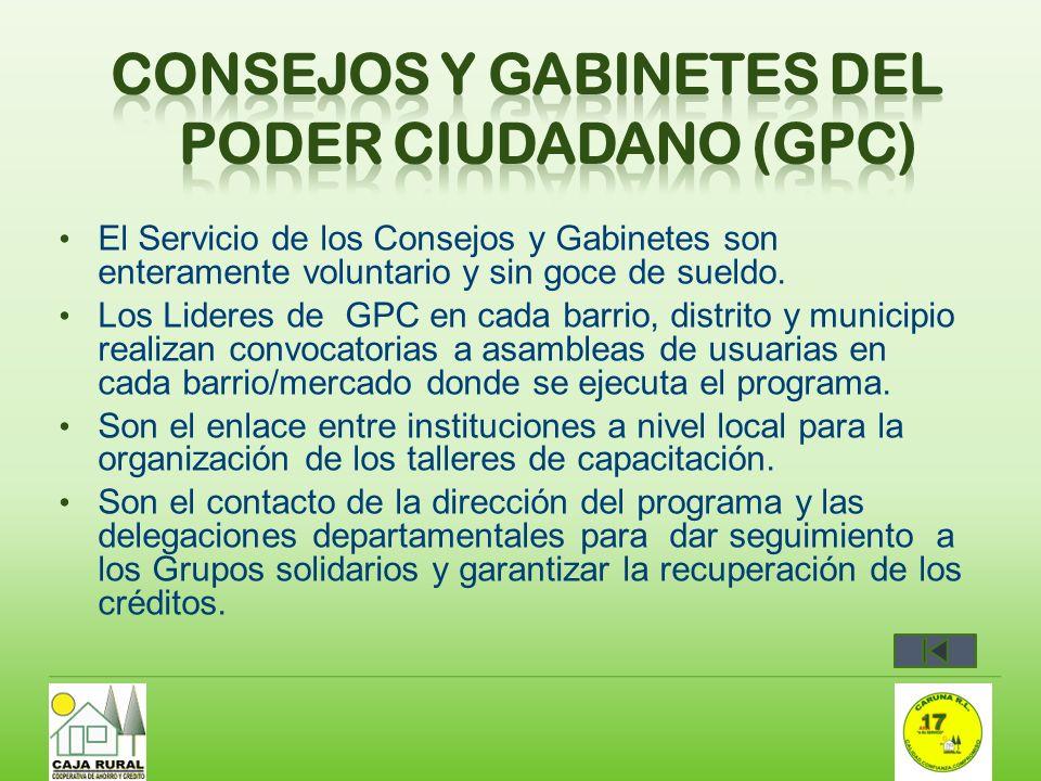 Consejos y gabinetes del poder ciudadano (GPC)