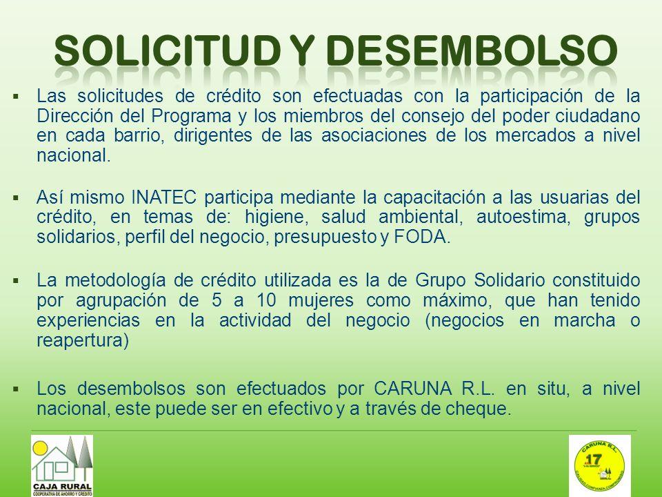 SOLICITUD Y DESEMBOLSO