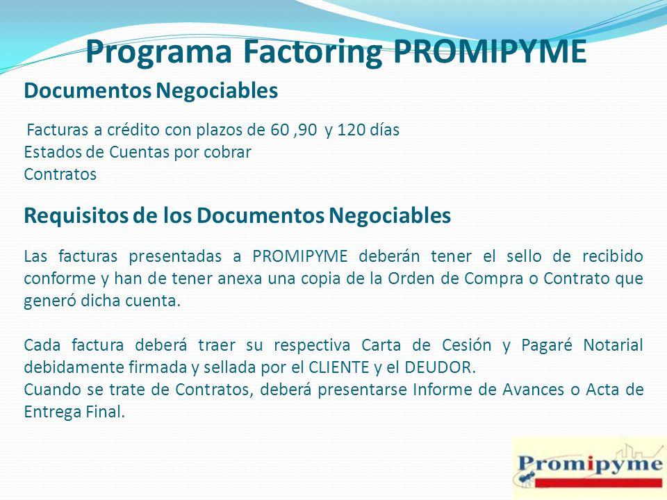 Programa Factoring PROMIPYME