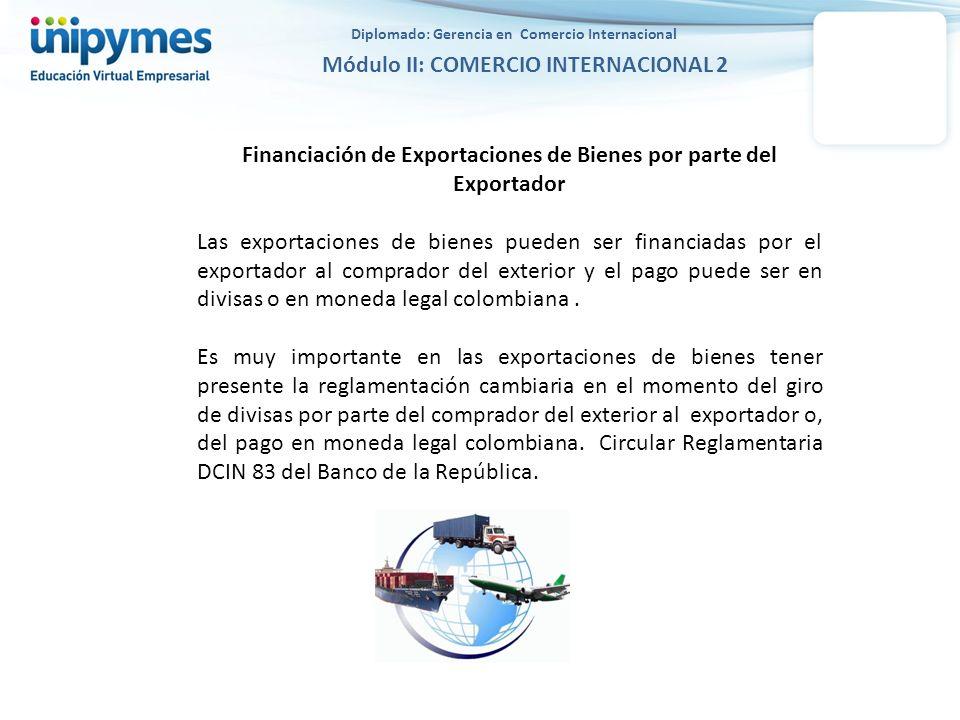 Financiación de Exportaciones de Bienes por parte del Exportador