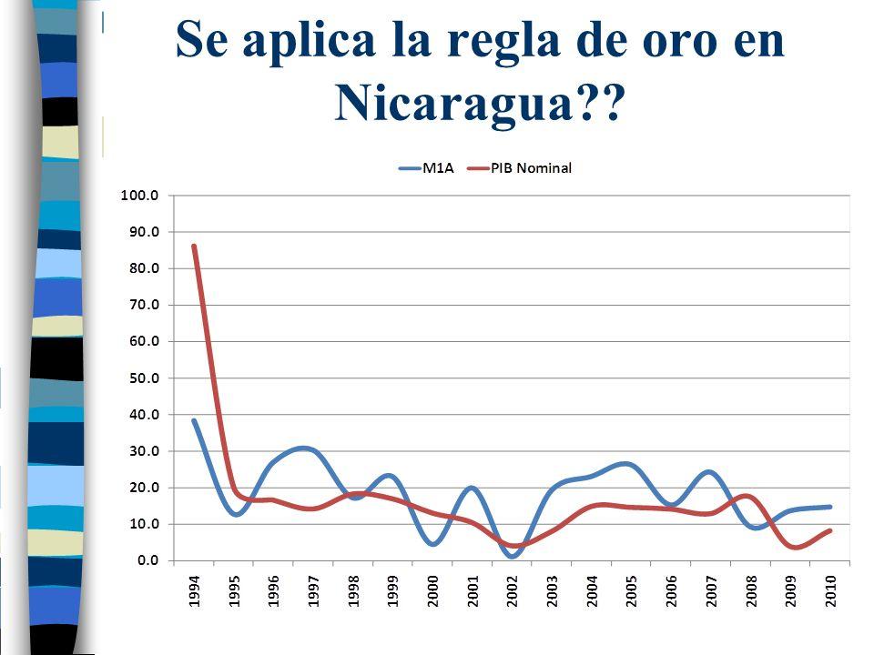 Se aplica la regla de oro en Nicaragua