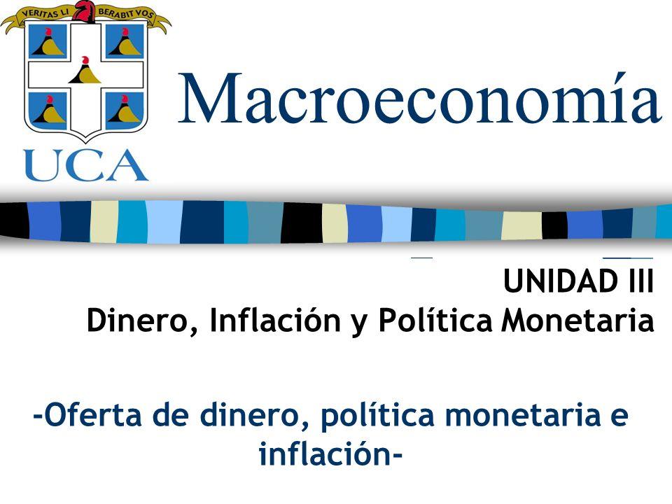 -Oferta de dinero, política monetaria e inflación-