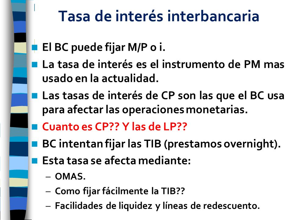 Tasa de interés interbancaria