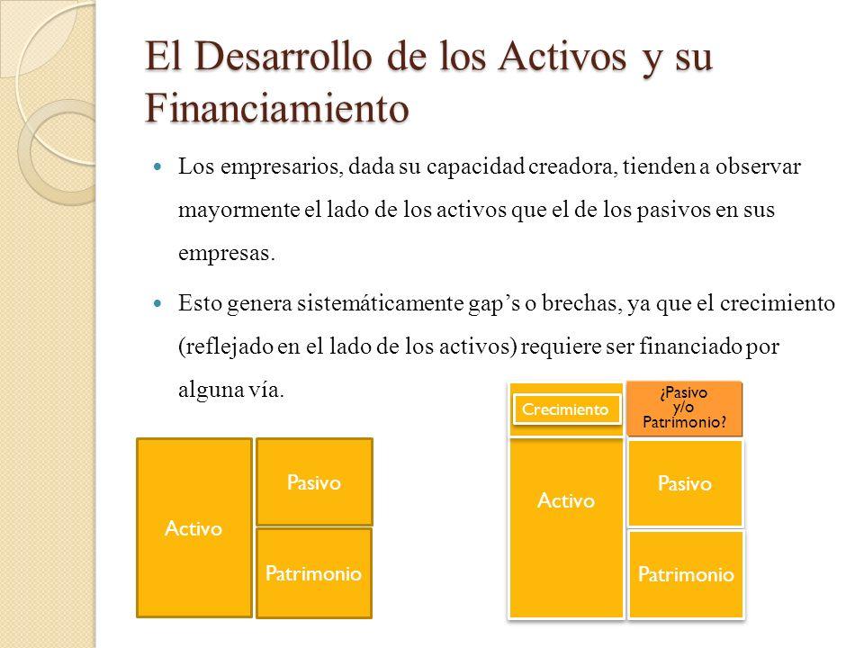 El Desarrollo de los Activos y su Financiamiento