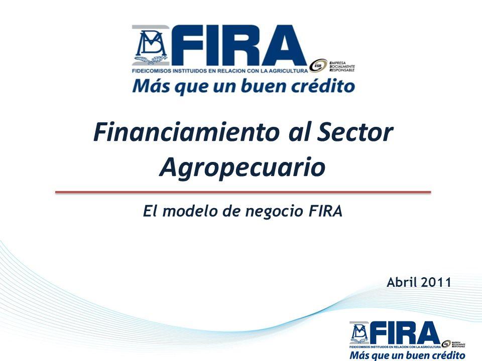 Financiamiento al Sector Agropecuario El modelo de negocio FIRA