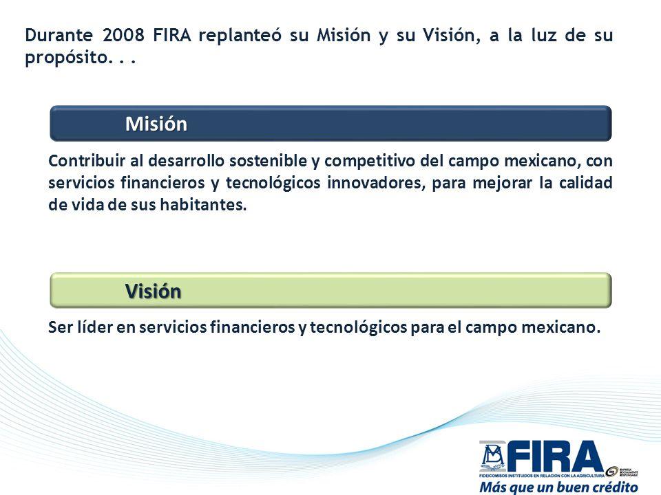 Durante 2008 FIRA replanteó su Misión y su Visión, a la luz de su propósito. . .