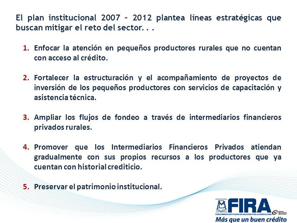 El plan institucional 2007 – 2012 plantea líneas estratégicas que buscan mitigar el reto del sector. . .
